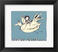 Framed Boy On Bird