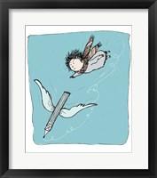 Framed Flying Pencil