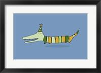 Framed Stripy Crocodile