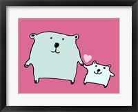 Framed Two Little Bears