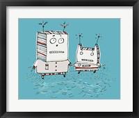 Framed Robots On Beach
