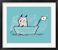 Framed Sweet Sailor Cat