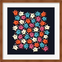 Framed Tiny Tumbling Kittens