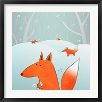 Winter Foxes Framed Print
