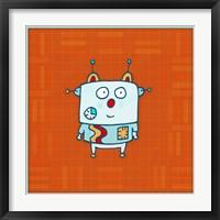 Little Robot Boy Framed Print