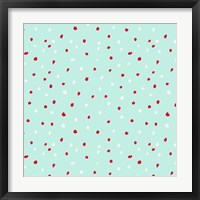 Sleepy Time Dot Pattern Framed Print
