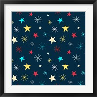 Framed Sweet Stars Pattern