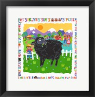 Framed Bah Bah Black Sheep