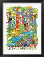Framed Life In The Rainforest