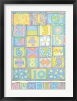 Numbers Framed Print