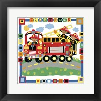 Framed Firetruck