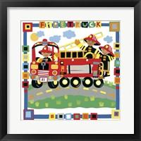Firetruck Framed Print
