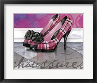 Framed Plaid Heels