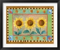 Framed Sunflowers