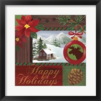 Christmas Lodge I Framed Print