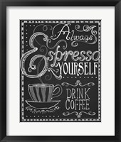 Framed Espresso Yourself