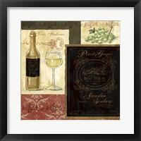 Framed Italian Wine Patch