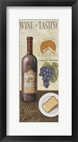 Wine And Cheese I Framed Print