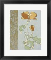Tan Tulip With Left Border Framed Print