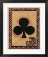 Framed Jack Of Clubs