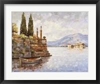 Framed Evening Light On Lake Como