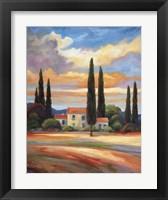 Framed Sunset In Provence