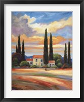 Framed Sunset In Provence