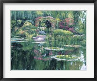 Framed Monet'S Garden