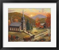 Framed Autumn In Vermont