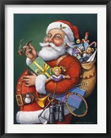 Framed Saint Nick And All His Toys