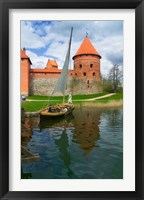 Framed Island Castle by Lake Galve, Trakai, Lithuania I