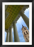 Framed Bell Tower of the Cathedral, Vilnius, Lithuania