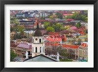 Framed Cityscape dominated by Cathedral Bell Tower, Vilnius, Lithuania