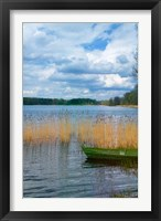Framed Colorful Canoe by Lake, Trakai, Lithuania II