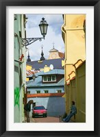 Framed Traditional House in Old Town, Vilnius, Lithuania