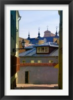 Framed Traditional Houses in the old town, Vilnius, Lithuania