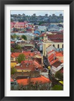 Framed Wall Decorated with Teapot and Cobbled Street in the Old Town, Vilnius, Lithuania I