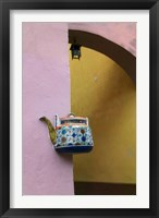 Framed Wall Decorated with Teapot and Cobbled Street in the Old Town, Vilnius, Lithuania III
