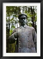 Framed Lithuania, Grutas Park, Statue Joseph Stalin III