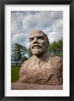Framed Lithuania, Grutas Park, Statue of Lenin I