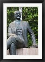 Framed Lithuania, Grutas Park, Statue of Lenin III