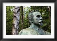 Framed Lithuania, Grutas, Statue of Mickevicius-Kapsukas