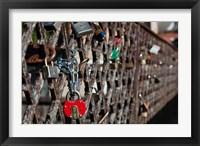 Framed Lithuania, Vilnius, Footbridge, Lovers' Locks