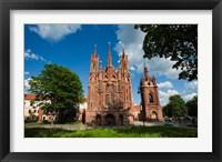 Framed St Anne and Bernardine Churche, Vilnius, Lithuania