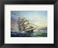 Framed Clipper Ship Surprise