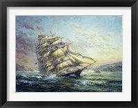 Framed Clipper Ship Surprise