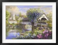 Framed Picturesque Covered Bridge