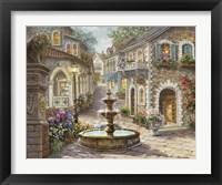 Framed Cobblestone Fountain