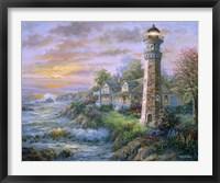 Framed Lighthouse Haven II