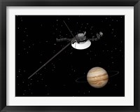 Framed Voyager Spacecraft near Jupiter